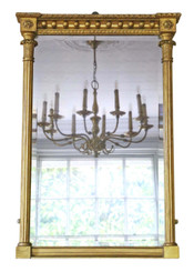 Antique Regency gilt pier wall mirror C1825