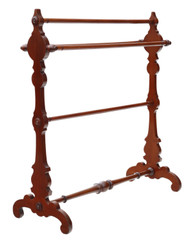 Antique fine quality Victorian C1890 mahogany towel rail stand