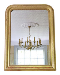 Antique quality Victorian gilt overmantle or wall mirror C1890