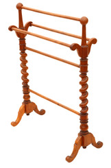 Antique quality Victorian C1870 mahogany towel rail stand