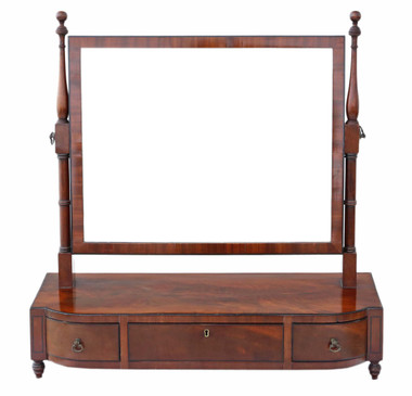 Antique quality Georgian mahogany swing dressing table mirror toilet C1800-20