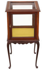 Antique quality C1900-1920 mahogany bijouterie display cabinet table