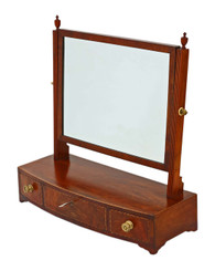 Antique quality Georgian mahogany swing dressing table mirror toilet C1810-30
