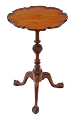 Antique quality Georgian revival mahogany wine table side C1920