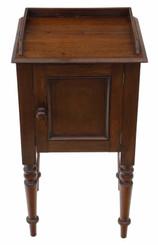 Antique mahogany bedside table cupboard cabinet pot C1900