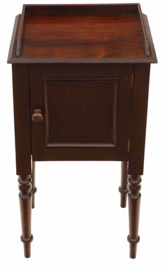Antique mahogany bedside table pot cupboard cabinet C1900
