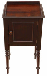 Antique mahogany bedside table pot cupboard cabinet C1900