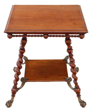 Antique fine quality Victorian C1880-1900 red walnut and brass centre table