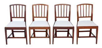 Antique quality set of 4 Georgian elm dining chairs C1800-1830