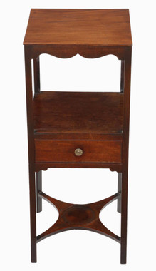 Antique Georgian C1800 mahogany washstand bedside table