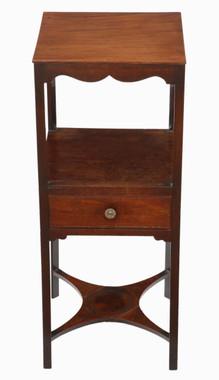 Antique Georgian C1800 mahogany washstand bedside table