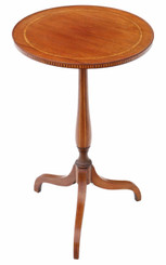 Antique quality 19th Century inlaid mahogany quality wine table side occasional
