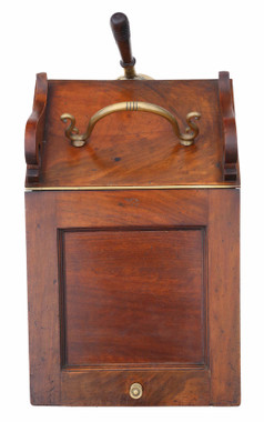 Antique quality Victorian mahogany coal scuttle box or cabinet C1850