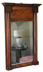 Antique fine quality Regency mahogany overmantle or wall mirror C1825