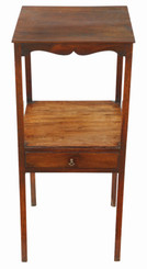 Antique quality Georgian mahogany washstand bedside table C1800