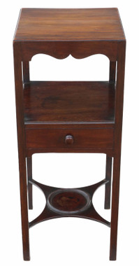 Antique quality Georgian mahogany washstand bedside table C1810