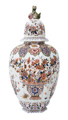 Antique very large oriental 19th Century vase or jar with lid