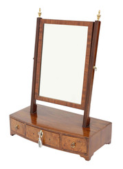 Antique quality Georgian mahogany walnut dressing table swing mirror C1800