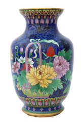 Antique large mid-20th Century Japanese cloisonne vase
