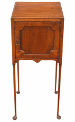 Antique Georgian C1800-20 mahogany pot bedside table or cupboard 19th Century