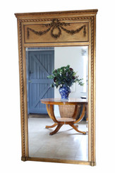 Antique very large fine quality 19th Century gilt full height wall mirror