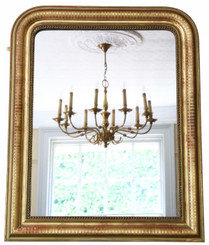 Antique quality 19th Century gilt overmantle mirror