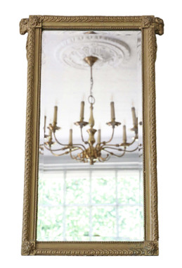 Antique late 19th Century gilt overmantle pier or wall mirror