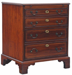 Antique small inlaid mahogany Edwardian chest of 2 drawers