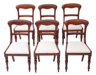 Antique fine quality set of 6 Victorian mahogany dining chairs C1850