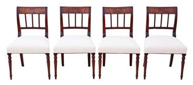 Antique quality set of 4 Georgian mahogany dining chairs C1820