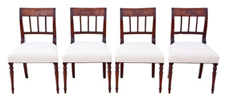 Antique quality set of 4 Georgian mahogany dining chairs C1820