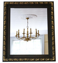 Antique large Victorian gilt and oak overmantle or wall mirror 19th Century