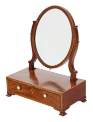 Antique quality small Georgian mahogany dressing table swing mirror C1800