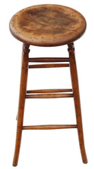 Antique quality Victorian 19th Century ash and elm stool