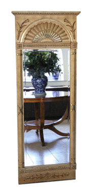 Antique large quality gilt full height wall floor mirror C1920-30