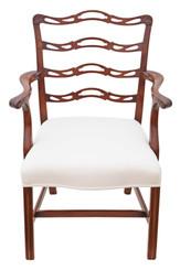 Antique quality Georgian Revival C1900 mahogany elbow carver desk chair