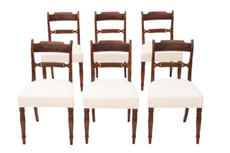 Antique fine quality set of 6 Georgian mahogany dining chairs C1820