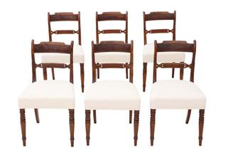 Antique fine quality set of 6 Georgian mahogany dining chairs C1820