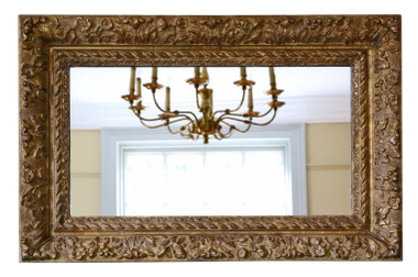 Antique large quality 19th Century Louis XIV style gilt / overmantle wall mirror