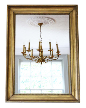 Antique large quality gilt overmantle wall mirror 19th Century