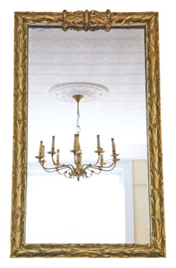 Antique large fine quality 19th Century giltwood wall / floor mirror