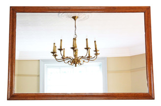 Antique large quality birds eye maple wall or overmantle mirror 19th Century
