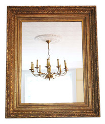 Antique 19th Century very large quality gilt overmantle wall mirror