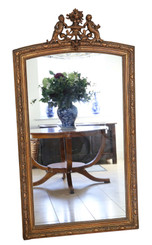 Antique very large quality gilt overmantle wall or floor mirror 19th Century