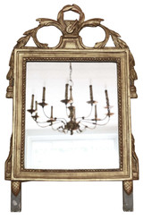 Antique quality early 19th Century gilt overmantle or wall mirror