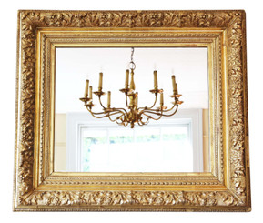 Antique quality large gilt overmantle wall mirror 19th Century