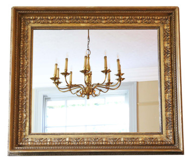 Antique large quality gilt wall mirror 19th Century over-mantle