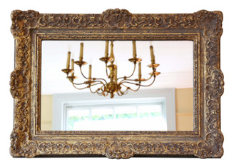 Antique quality gilt wall mirror 19th Century overmantle