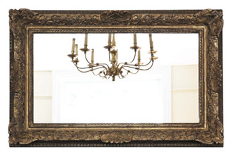 Antique 19th Century large quality gilt overmantle wall mirror