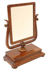Antique Regency C1825 mahogany dressing table swing mirror toilet